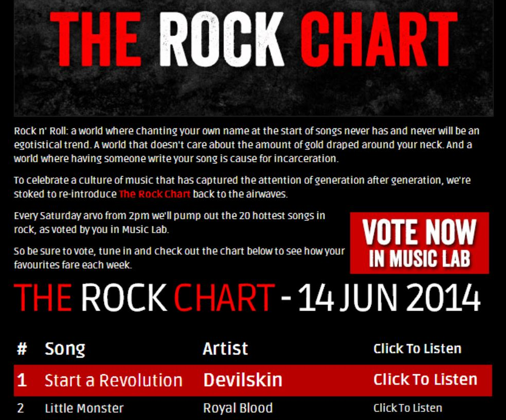 Devislkin - Start A Revolution - The Rock FM Chart June - 1st Spot