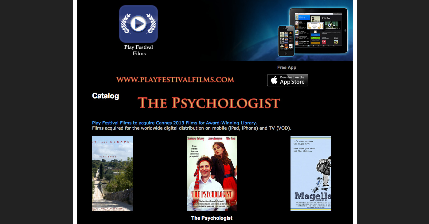 The Psychologist Playfestival films